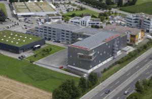 Gebäude des Hauptsitzes von Lehner Versand in Schenkon