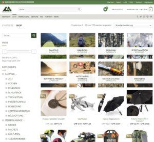 Camping Ausrüstung kaufen Schweiz